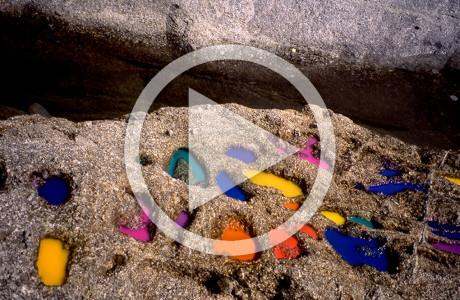 """""""Colore come effimero"""" Cavoli - Isola d'Elba (Italia).  Intervento-azione.  Foto e video di Flavio Da Rold.  <em>dimensioni varie</em>          Montaggio video di <strong><a href=""""http://www.audiogruppo.com"""" target=""""_blank"""">Piero Bolzan</a></strong>"""